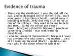 evidence of trauma1