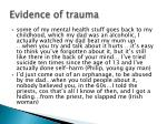 evidence of trauma2