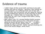 evidence of trauma3