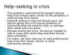 help seeking in crisis
