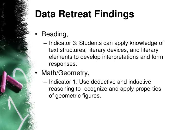 Data Retreat Findings