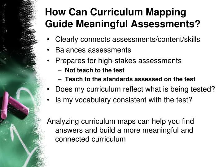 How Can Curriculum Mapping Guide Meaningful Assessments?