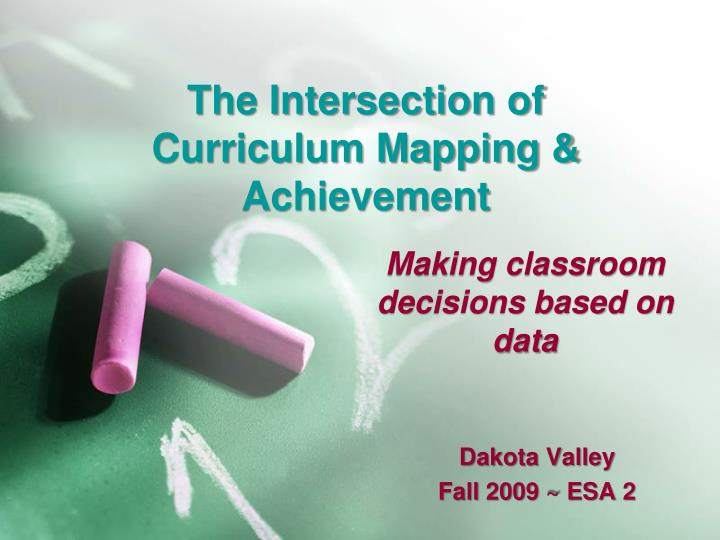 the intersection of curriculum mapping achievement