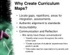 why create curriculum maps