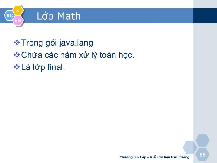 Lớp Math