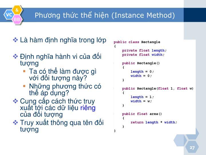Phương thức thể hiện (Instance Method)