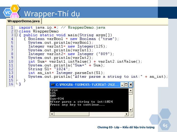 Wrapper-Thí dụ
