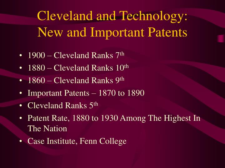 Cleveland and Technology: