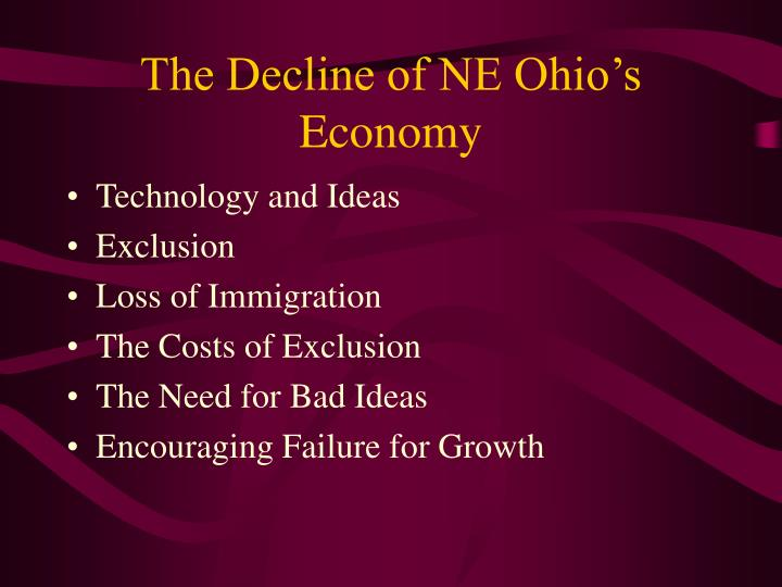 The Decline of NE Ohio's Economy