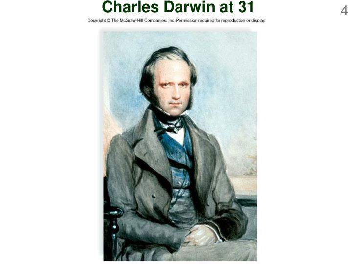 Charles Darwin at 31