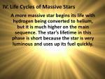 iv life cycles of massive stars
