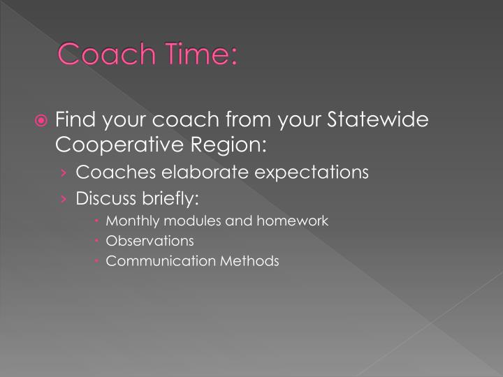 Coach Time:
