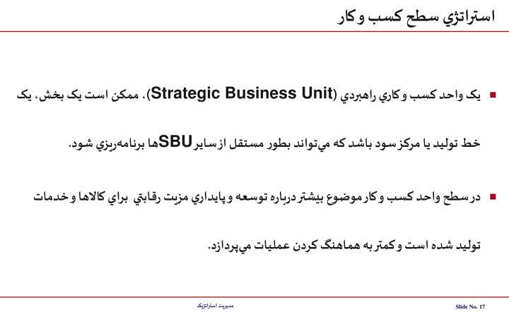 استراتژي سطح کسب و کار