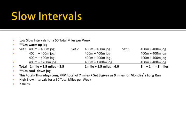 Slow Intervals