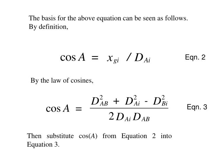 The basis for the above equation can be seen as follows.  By definition,