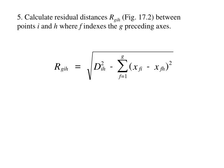 5. Calculate residual distances