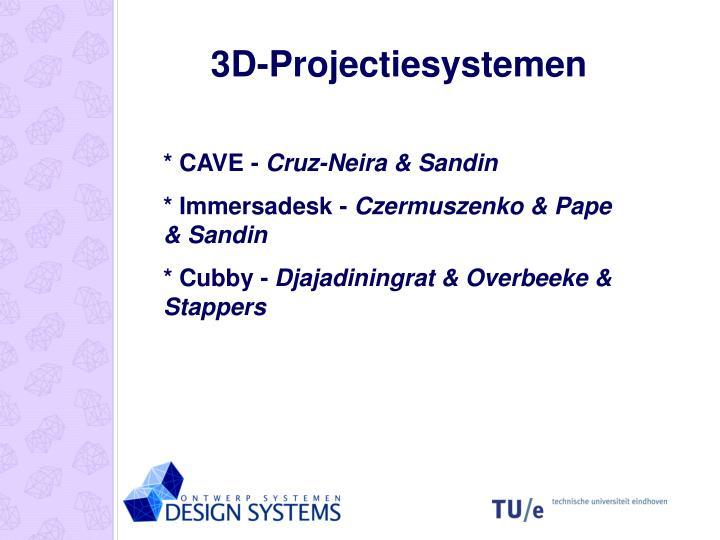 3D-Projectiesystemen