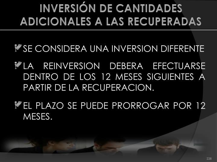 INVERSIÓN DE CANTIDADES