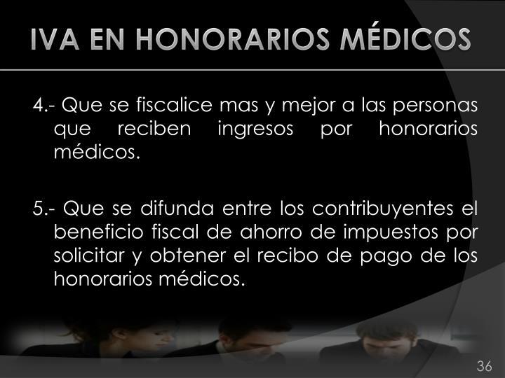 IVA EN HONORARIOS MÉDICOS