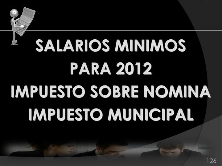 SALARIOS MINIMOS