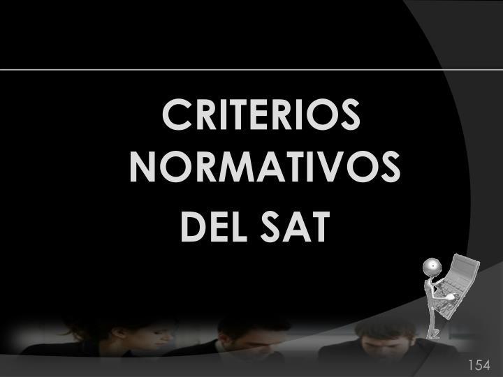 CRITERIOS NORMATIVOS