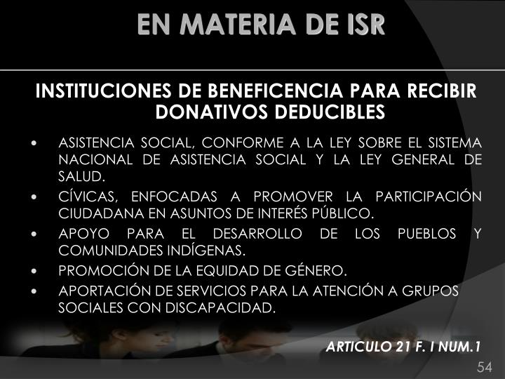 INSTITUCIONES DE BENEFICENCIA PARA RECIBIR DONATIVOS DEDUCIBLES