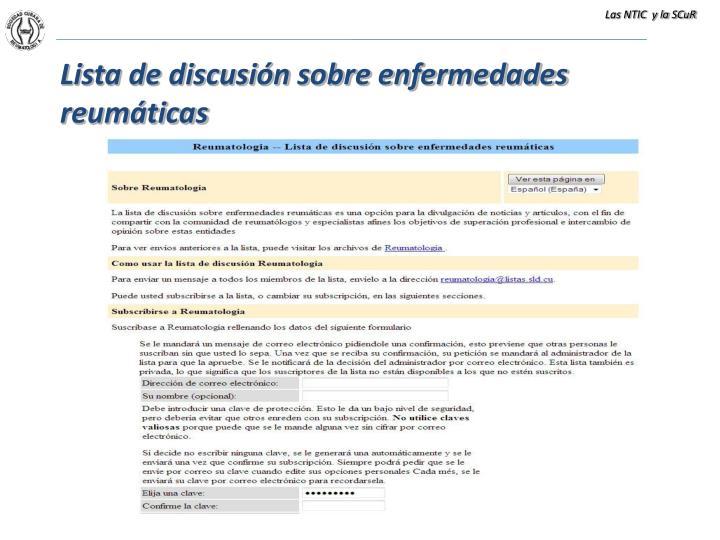 Las NTIC  y la SCuR