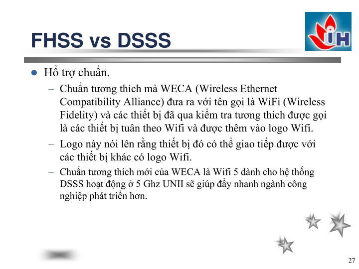 FHSS vs DSSS
