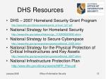 dhs resources