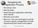 navigating the application process