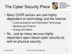 the cyber security piece