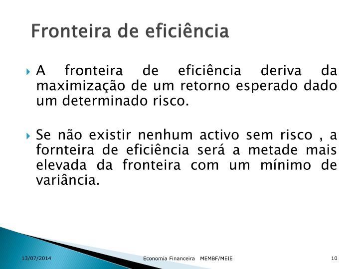 Fronteira de eficiência
