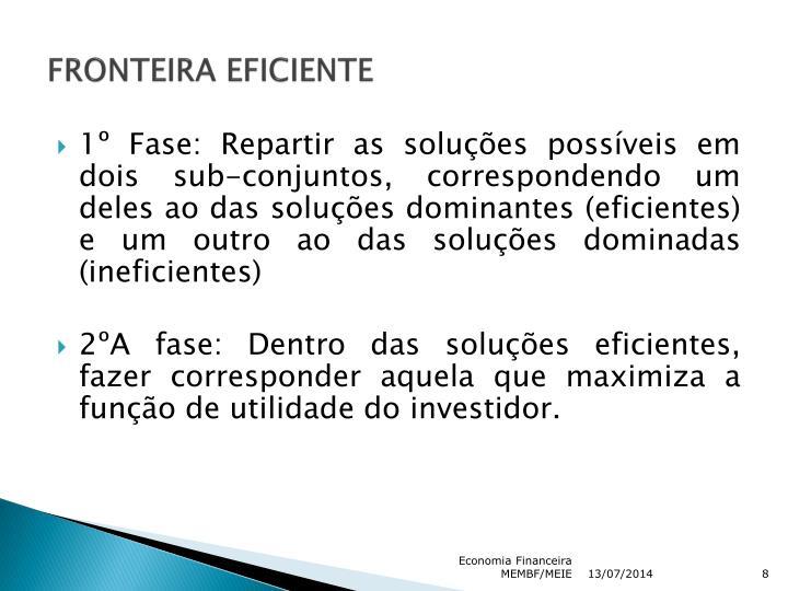 FRONTEIRA EFICIENTE