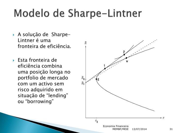 Modelo de Sharpe-Lintner