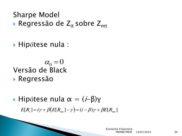 Sharpe Model