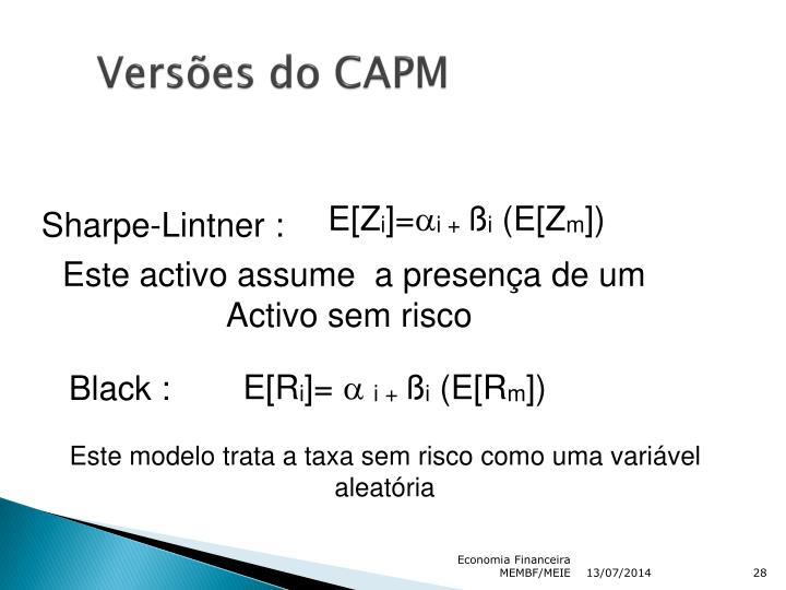 Versões do CAPM