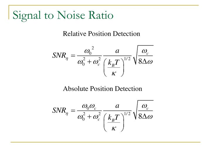 Relative Position Detection