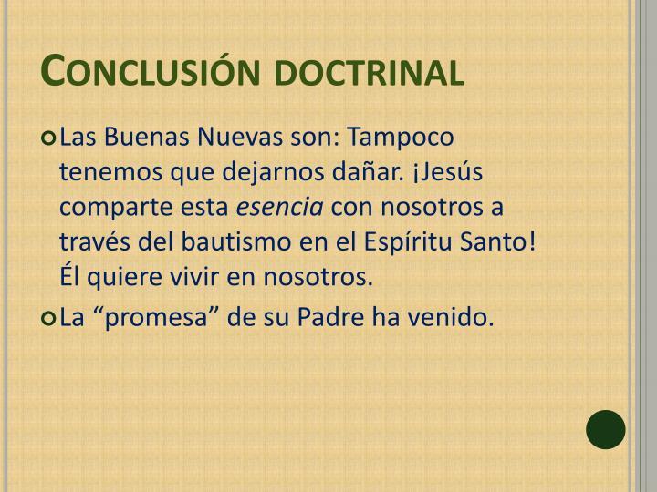 Conclusión doctrinal