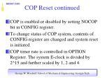 cop reset continued