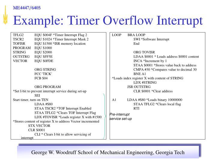 TFLG2 EQU $004F *Timer Interrupt Flag 2