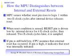 how the mpu distinguishes between internal and external resets