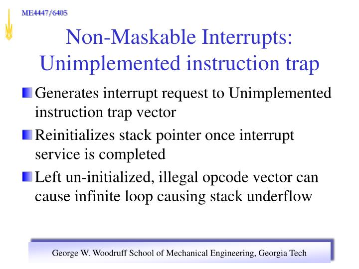 Generates interrupt request to Unimplemented instruction trap vector
