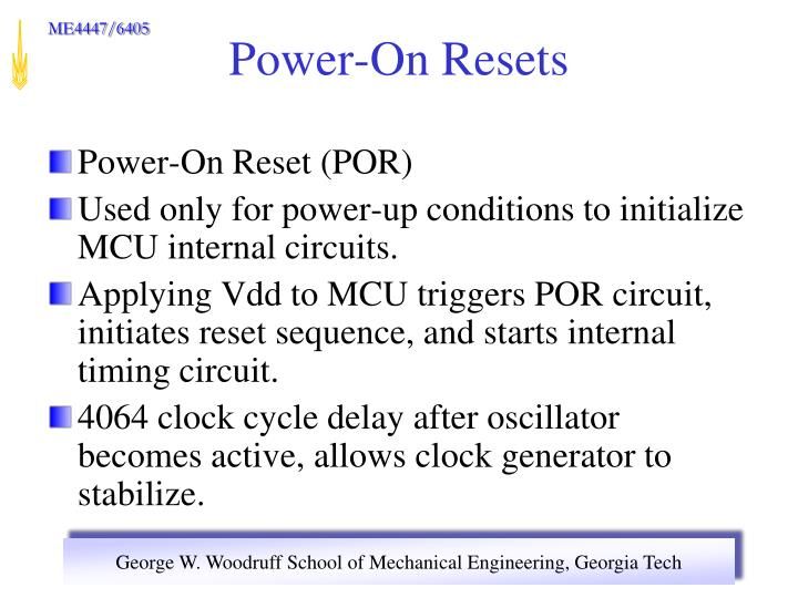 Power-On Reset (POR)