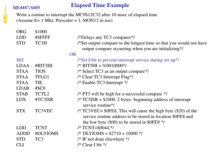 Elapsed Time Example