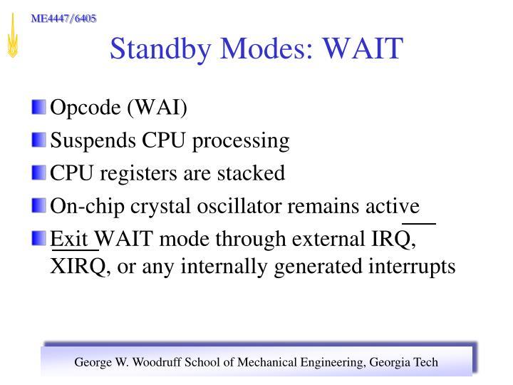 Opcode (WAI)