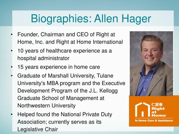 Biographies: Allen Hager