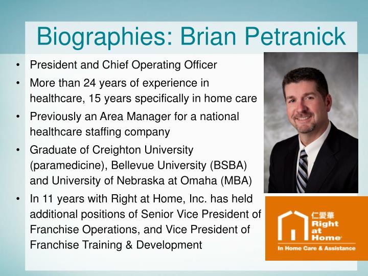 Biographies: Brian Petranick
