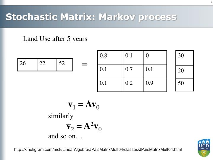 Stochastic Matrix: Markov process