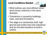 local conditions needed1
