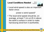 local conditions needed2